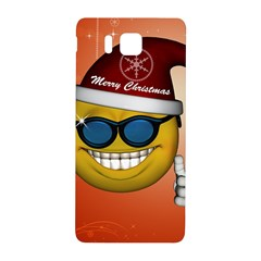 Funny Christmas Smiley With Sunglasses Samsung Galaxy Alpha Hardshell Back Case