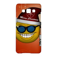 Funny Christmas Smiley With Sunglasses Samsung Galaxy A5 Hardshell Case