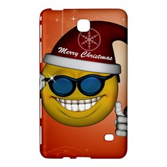 Funny Christmas Smiley With Sunglasses Samsung Galaxy Tab 4 (8 ) Hardshell Case