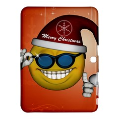 Funny Christmas Smiley With Sunglasses Samsung Galaxy Tab 4 (10.1 ) Hardshell Case