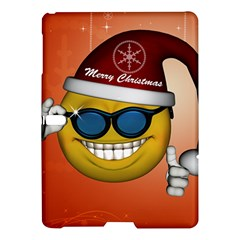 Funny Christmas Smiley With Sunglasses Samsung Galaxy Tab S (10.5 ) Hardshell Case