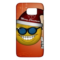 Funny Christmas Smiley With Sunglasses Galaxy S6