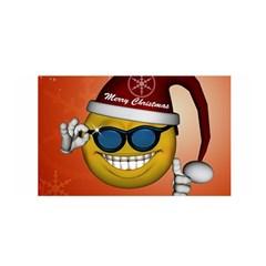 Funny Christmas Smiley With Sunglasses Satin Wrap