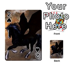 Awesome Dark Unicorn With Clouds Playing Cards 54 Designs