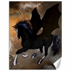 Awesome Dark Unicorn With Clouds Canvas 12  X 16