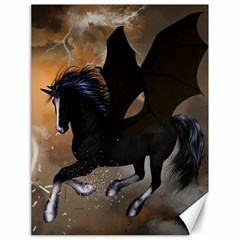 Awesome Dark Unicorn With Clouds Canvas 18  x 24