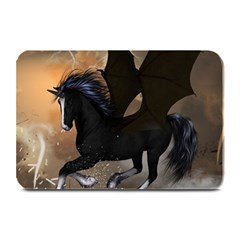 Awesome Dark Unicorn With Clouds Plate Mats