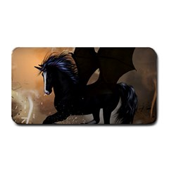 Awesome Dark Unicorn With Clouds Medium Bar Mats