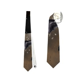 Awesome Dark Unicorn With Clouds Neckties (Two Side)