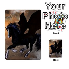 Awesome Dark Unicorn With Clouds Multi Purpose Cards (rectangle)