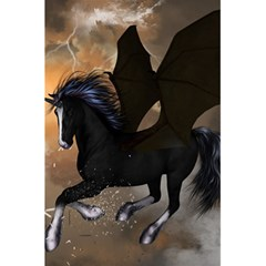 Awesome Dark Unicorn With Clouds 5 5  X 8 5  Notebooks