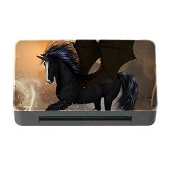 Awesome Dark Unicorn With Clouds Memory Card Reader With Cf