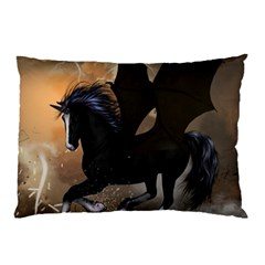 Awesome Dark Unicorn With Clouds Pillow Cases (two Sides)