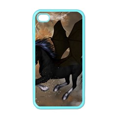 Awesome Dark Unicorn With Clouds Apple iPhone 4 Case (Color)
