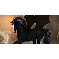 Awesome Dark Unicorn With Clouds YOU ARE INVITED 3D Greeting Card (8x4)