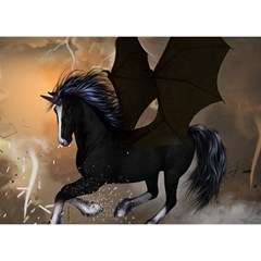 Awesome Dark Unicorn With Clouds Birthday Cake 3d Greeting Card (7x5)