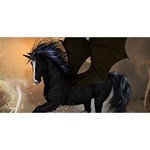 Awesome Dark Unicorn With Clouds Congrats Graduate 3D Greeting Card (8x4)  Back