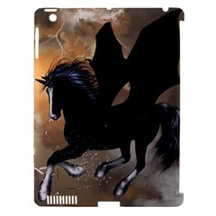 Awesome Dark Unicorn With Clouds Apple iPad 3/4 Hardshell Case (Compatible with Smart Cover)