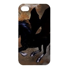 Awesome Dark Unicorn With Clouds Apple iPhone 4/4S Premium Hardshell Case