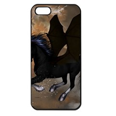 Awesome Dark Unicorn With Clouds Apple iPhone 5 Seamless Case (Black)