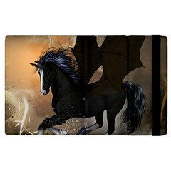 Awesome Dark Unicorn With Clouds Apple iPad 2 Flip Case