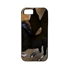 Awesome Dark Unicorn With Clouds Apple iPhone 5 Classic Hardshell Case (PC+Silicone)