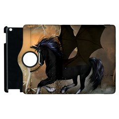 Awesome Dark Unicorn With Clouds Apple Ipad 3/4 Flip 360 Case