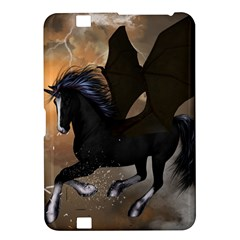 Awesome Dark Unicorn With Clouds Kindle Fire HD 8.9