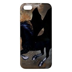 Awesome Dark Unicorn With Clouds Apple iPhone 5 Premium Hardshell Case