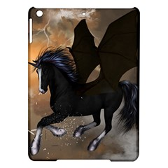 Awesome Dark Unicorn With Clouds iPad Air Hardshell Cases