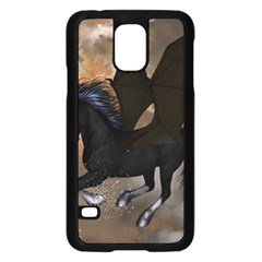 Awesome Dark Unicorn With Clouds Samsung Galaxy S5 Case (Black)