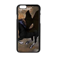Awesome Dark Unicorn With Clouds Apple iPhone 6/6S Black Enamel Case