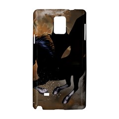 Awesome Dark Unicorn With Clouds Samsung Galaxy Note 4 Hardshell Case