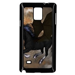 Awesome Dark Unicorn With Clouds Samsung Galaxy Note 4 Case (black)