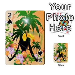 Cute Toucan With Palm And Flowers Playing Cards 54 Designs