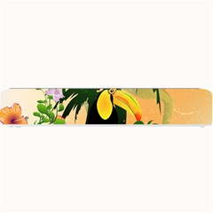 Cute Toucan With Palm And Flowers Small Bar Mats