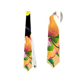 Cute Toucan With Palm And Flowers Neckties (two Side)