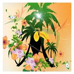 Cute Toucan With Palm And Flowers Small Memo Pads 3.75 x3.75  Memopad
