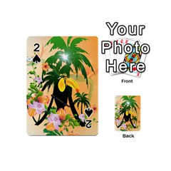 Cute Toucan With Palm And Flowers Playing Cards 54 (Mini)