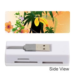 Cute Toucan With Palm And Flowers Memory Card Reader (Stick)