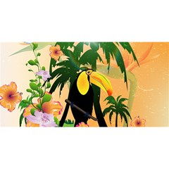 Cute Toucan With Palm And Flowers You Are Invited 3d Greeting Card (8x4)