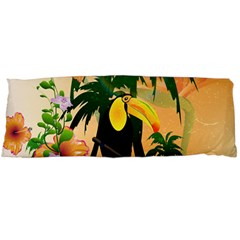 Cute Toucan With Palm And Flowers Body Pillow Cases (Dakimakura)