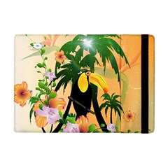 Cute Toucan With Palm And Flowers Apple iPad Mini Flip Case