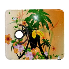 Cute Toucan With Palm And Flowers Samsung Galaxy S  III Flip 360 Case