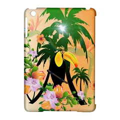 Cute Toucan With Palm And Flowers Apple iPad Mini Hardshell Case (Compatible with Smart Cover)