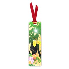 Cute Toucan With Palm And Flowers Small Book Marks