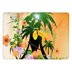 Cute Toucan With Palm And Flowers Samsung Galaxy Tab 10.1  P7500 Flip Case