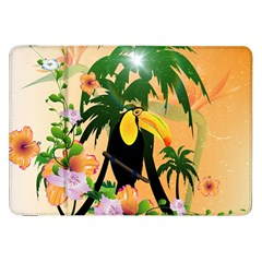 Cute Toucan With Palm And Flowers Samsung Galaxy Tab 8.9  P7300 Flip Case