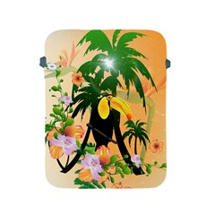 Cute Toucan With Palm And Flowers Apple iPad 2/3/4 Protective Soft Cases