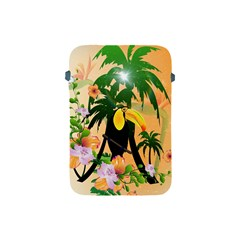 Cute Toucan With Palm And Flowers Apple iPad Mini Protective Soft Cases